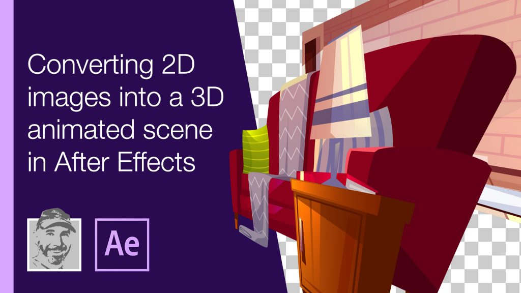 Converting 2D images into a 3D animated scene in After Effects