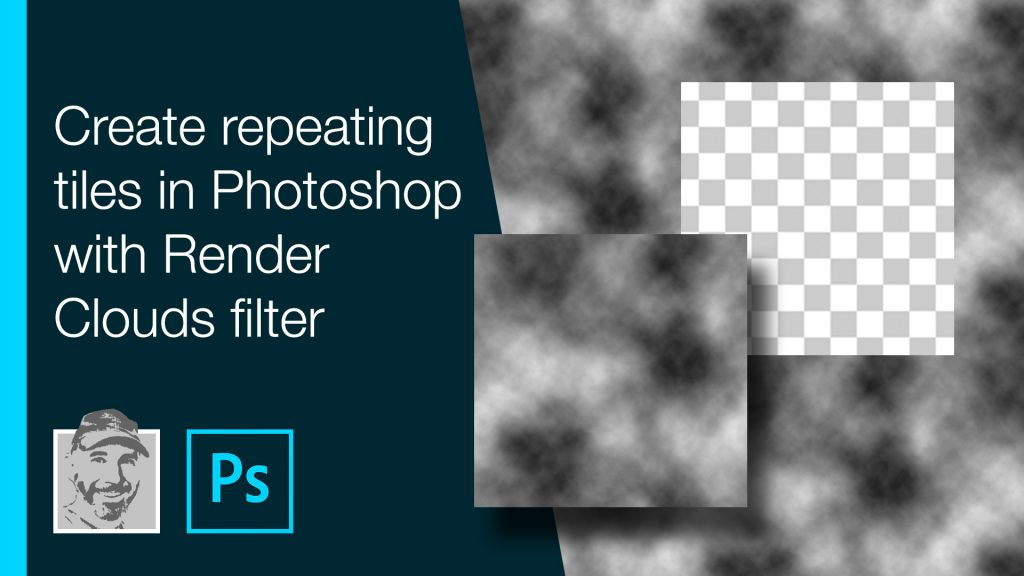 Create repeating tiles in Photoshop with Render Clouds filter