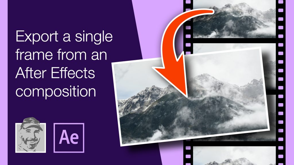 Export a single frame from an After Effects composition