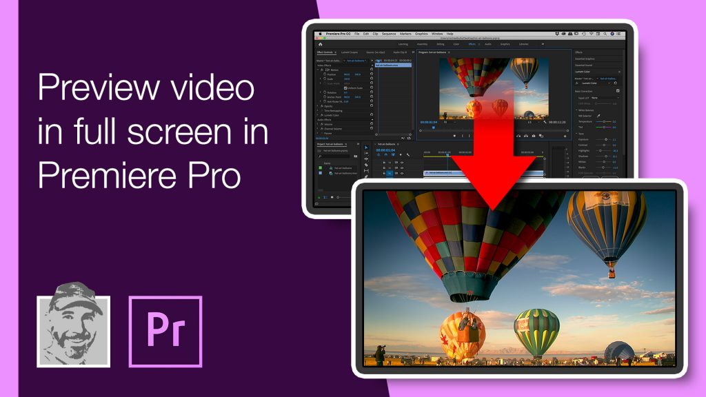 Preview video in full screen in Premiere Pro