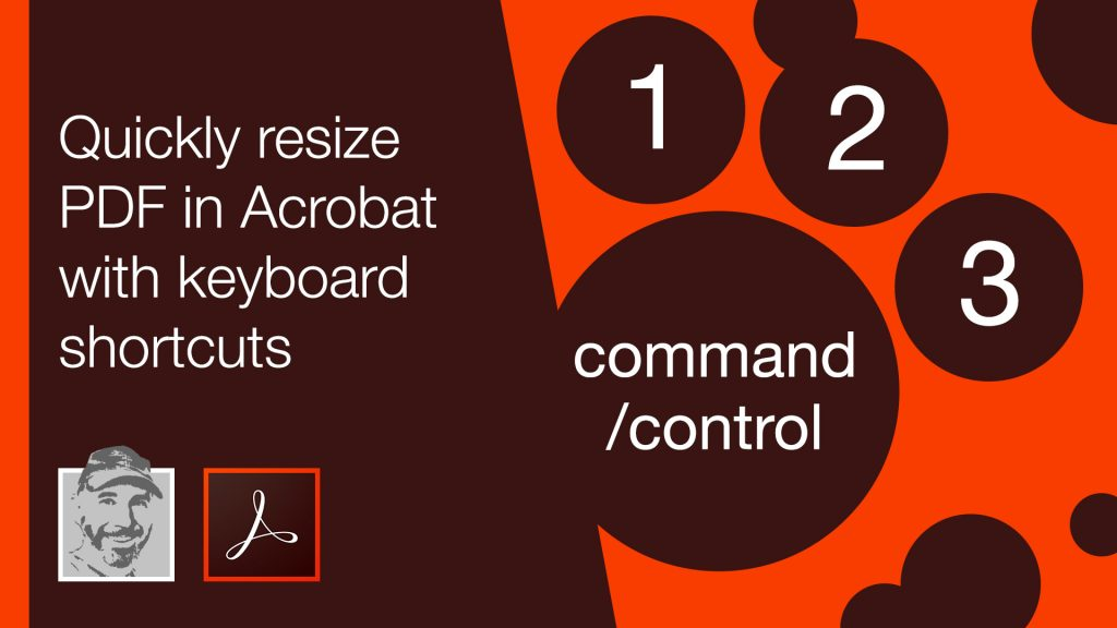 Quickly resize PDF in Acrobat with keyboard shortcuts