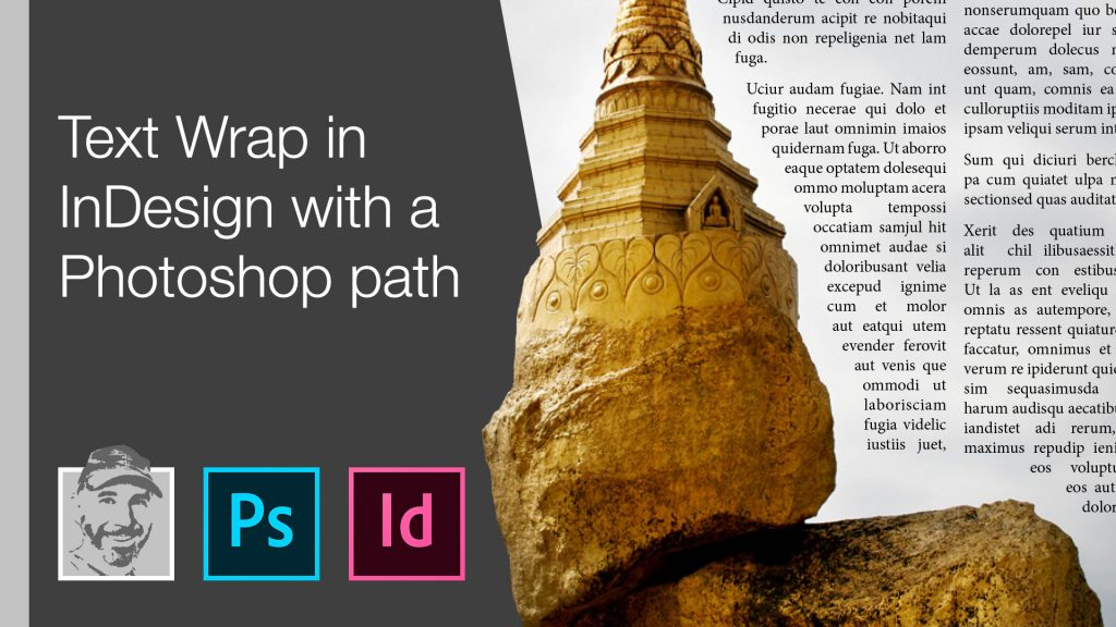 Text Wrap in InDesign with a Photoshop path